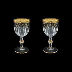 Provenza C3 PEGB Wine Glasses 170ml 2pcs in Flora´s Empire Golden Black Decor (26-522/2)