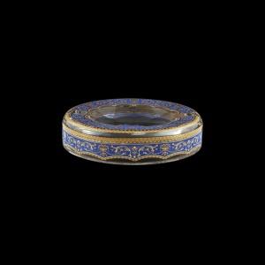 Look PO LELC Ashtray d18,5cm 1pc in Flora´s Empire Golden Blue Light Decor (23-705/L)