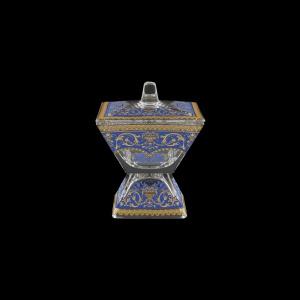 Torcello DOC TELC Dose w/F 11x11cm 1pc in Flora´s Empire Golden Blue Light (23-709/L)