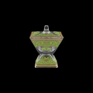 Torcello DOC TELG Dose w/F 11x11cm 1pc in Flora´s Empire Golden Green Light (24-709/L)