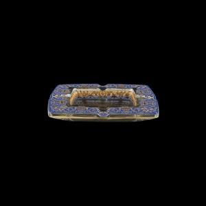 Torcello PO TELC Ashtray 15x15cm 1pc in Flora´s Empire Golden Blue Light Decor (23-706/L)