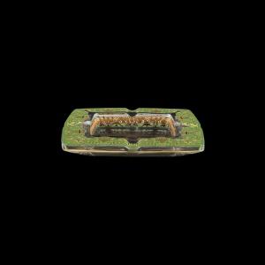 Torcello PO TELG Ashtray 15x15cm 1pc in Flora´s Empire Golden Green Light Decor (24-706/L)
