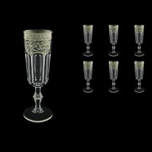 Provenza CFL PESK Champagne Flutes 160ml 6pcs in Flora´s Empire P. Crystal L. (20-1/524/L)