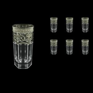 Provenza B0 PESK Water Glasses 370ml 6pcs in Flora´s Empire P. Crystal Light  (20-1/525/L)
