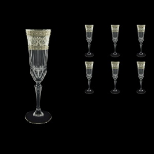 Adagio CFL AASK Champagne Flutes 180ml 6pcs in Allegro Platinum Light Decor (65-1/645/L)