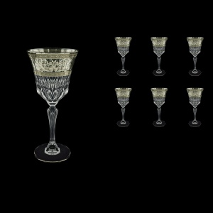 Adagio C2 AASK Wine Glasses 280ml 6pcs in Allegro Platinum Light Decor (65-1/644/L)
