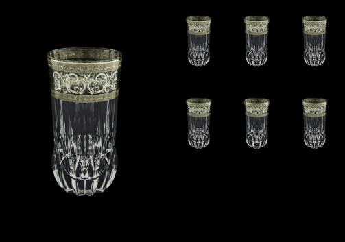 Adagio B0 AASK Water Glasses 400ml 6pcs in Allegro Platinum Light Decor (65-1/647/L)