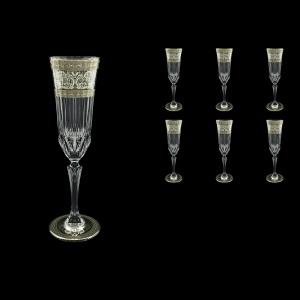 Adagio CFL AASK D Champagne Flutes 180ml 6pcs in Allegro Pl. Light Decor+D (66-1/645/L)
