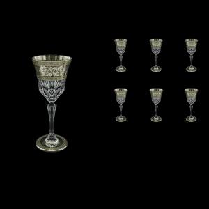 Adagio C4 AASK D Wine Glasses 150ml 6pcs in Allegro Platinum Light Decor+D (66-1/642/L)