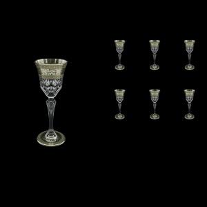 Adagio C5 AASK D Liqueur Glasses 80ml 6pcs in Allegro Platinum Light Decor+D (66-1/641/L)