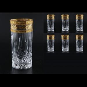 Opera B0 OALK Water Glasses 350ml 6pcs in Allegro Golden Light Decor (65-745/L)