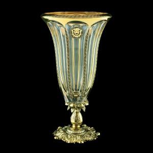 Panel VVZ PLGB B Vase 33cm 1pc in Antique&Leo Golden Black Decor (42-325/JJ02)