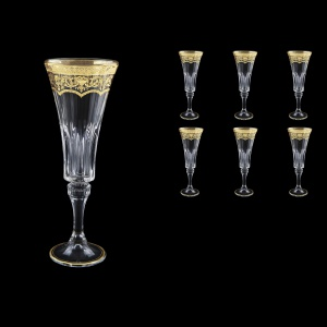 Wellington CFL WELK Champagne Flutes 180ml 6pcs in Flora´s Empire G. Crystal L. (20-759/L)