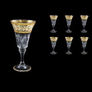 Wellington C2 WALK Wine Glasses 280ml 6pcs in Allegro Golden Light Decor (65-761/L)