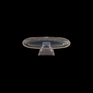 Fenice OTC FELC Oval Tray 30x9,5cm 1pc in Flora´s Empire Golden Blue Light D. (23-621/L)