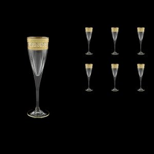 Fusion CFL FALK D Champagne Flutes 170ml 6pcs in Allegro Golden Light Decor (65-775/L)