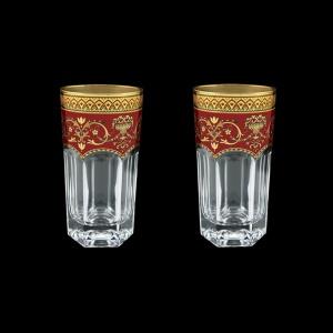 Provenza B0 PEGR Water Glasses 370ml 2pcs in Flora´s Empire Golden Red Decor (22-525/2)