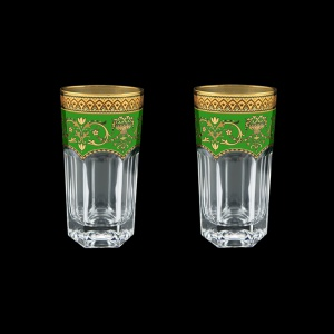 Provenza B0 PEGG Water Glasses 370ml 2pcs in Flora´s Empire Golden Green Decor (24-525/2)