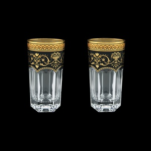 Provenza B0 PEGB Water Glasses 370ml 2pcs in Flora´s Empire Golden Black Decor (26-525/2)