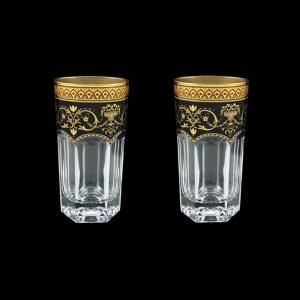 Provenza B0 PEGB Water Glasses 370ml 2pcs in Flora´s Empire Golden Black Decor (26-525/2)