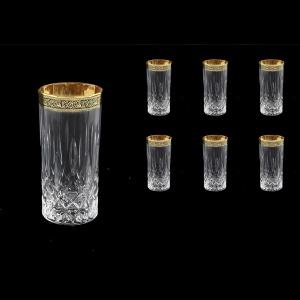 Opera B0 OMGB Water Glasses 350ml 6pcs in Lilit Golden Black Decor (31-237)
