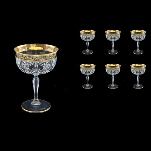 Opera CCH OMGB Champagne Bowl 240ml 6pcs in Lilit Golden Black Decor (31-156)