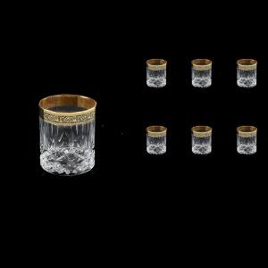 Opera B3 OMGB Whisky Glasses 210ml 6pcs in Lilit Golden Black Decor (31-157)