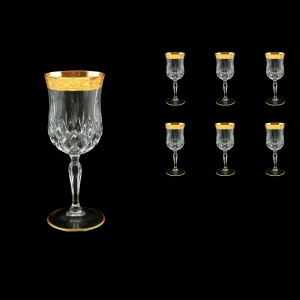 Opera C2 ONGC Wine Glasses 230ml 6pcs in Romance Golden Classic Decor (33-234)