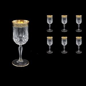 Opera C3 OMGB Wine Glasses 160ml 6pcs in Lilit Golden Black Decor (31-155)