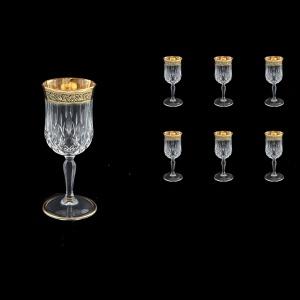 Opera C4 OMGB Wine Glasses 120ml 6pcs in Lilit Golden Black Decor (31-154)