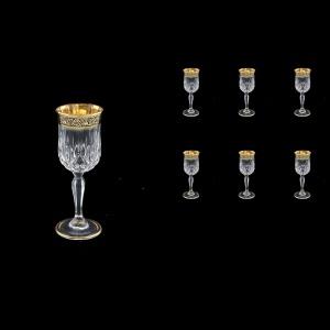 Opera C5 OMGB Liqueur Glasses 60ml 6pcs in Lilit Golden Black Decor (31-233)