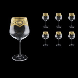 Strix CWR SELK Red Wine Glasses in Flora´s Empire Golden Crystal L 600ml, 6pcs (20-2216/L)