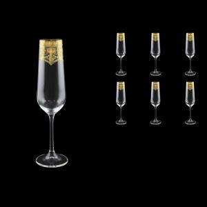 Strix CFL SELK Champagne Flute in Flora´s Empire Golden Crystal L, 200ml, 6pcs (20-2210/L)