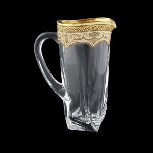 Bohemia Quadro J QEGI Jug 1100ml 1pc in Flora´s Empire Gold. Ivory D. (25-340)