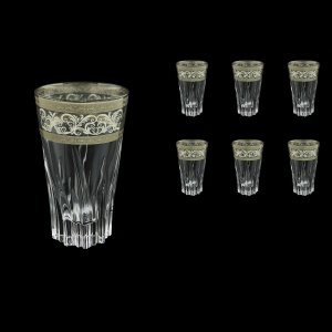 Fluente B0 FASK Water Glasses 400ml 6pcs in Allegro Platinum Light Decor (65-1/754/L)