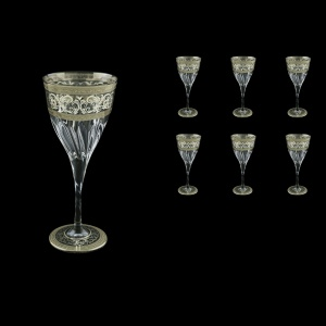 Fluente C3 FASK D Wine Glasses 265ml 6pcs in Allegro Platinum Light Decor+D (66-1/749/L)