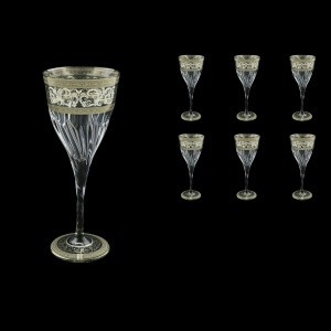 Fluente C2 FASK D Wine Glasses 291ml 6pcs in Allegro Platinum Light Decor+D (66-1/750/L)