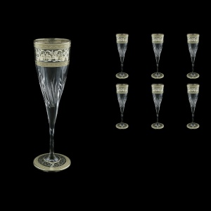 Fluente CFL FALK D Champagne Flutes 190ml 6pcs in Allegro Platinum Light D.+D (66-1751/L)