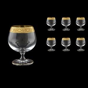 Bohemia Brandy CG BNGC Cognac Glasses 250ml 6pcs in Romance Golden Classic Decor (33-153)