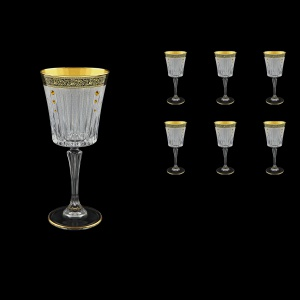 Timeless C2 TMGB SKTO Wine Glasses 298ml 6pcs in Lilit Golden Black+SKTO (31-130/bKTO)
