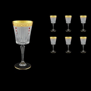 Timeless C2 TNGC SKLI Wine Glasses 298ml 6pcs in Romance Golden Classic+SKLI (33-130/bKLI)