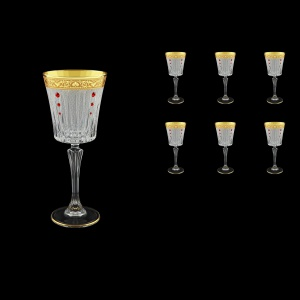 Timeless C3 TNGC SKLI Wine Glasses 227ml 6pcs in Romance Golden Cl. D.+SKLI (33-129/bKLI)