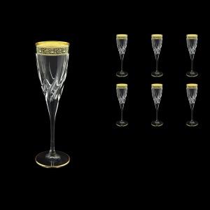 Trix CFL TMGB Champagne Flutes 120ml 6pcs in Lilit Golden Black Decor (31-810)