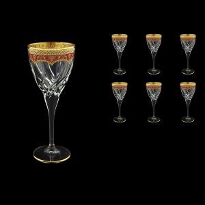 Trix C2 TEGR Wine Glasses 240ml 6pcs in Flora´s Empire Golden Red Decor (22-563)
