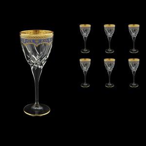 Trix C2 TEGC Wine Glasses 240ml 6pcs in Flora´s Empire Golden Blue Decor (23-563)
