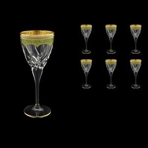 Trix C2 TEGG Wine Glasses 240ml 6pcs in Flora´s Empire Golden Green Decor (24-563)