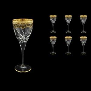 Trix C2 TEGB Wine Glasses 240ml 6pcs in Flora´s Empire Golden Black Decor (26-563)