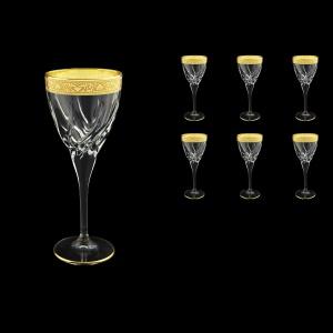 Trix C2 TNGC Wine Glasses 240ml 6pcs in Romance Golden Classic Decor (33-809)