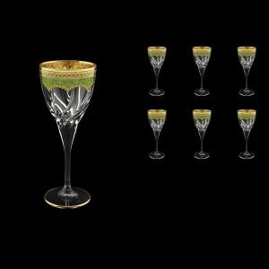 Trix C3 TEGG Wine Glasses 180ml 6pcs in Flora´s Empire Golden Green Decor (24-562)