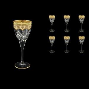 Trix C3 TEGI Wine Glasses 180ml 6pcs in Flora´s Empire Golden Ivory Decor (25-562)